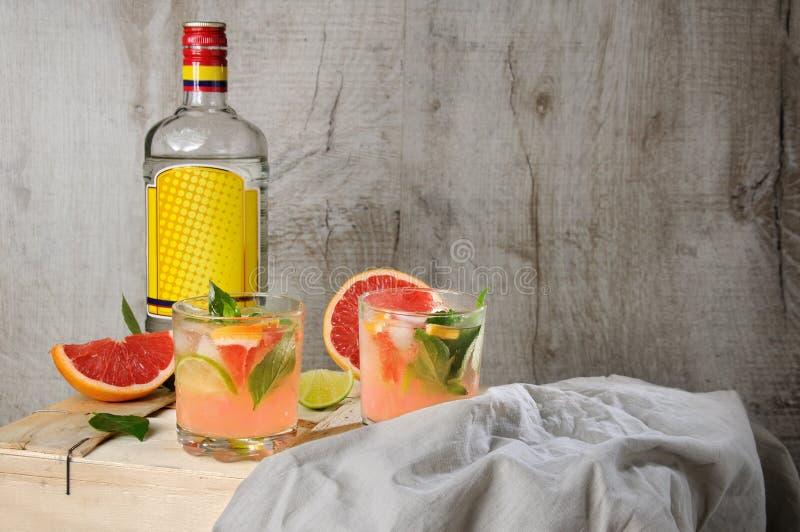 Cocktail van jenever en grapefruit stock fotografie
