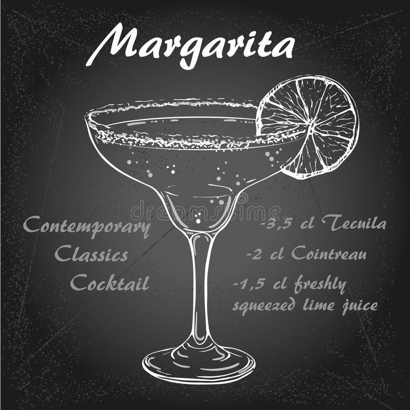 Cocktail vector1 de margarita illustration libre de droits
