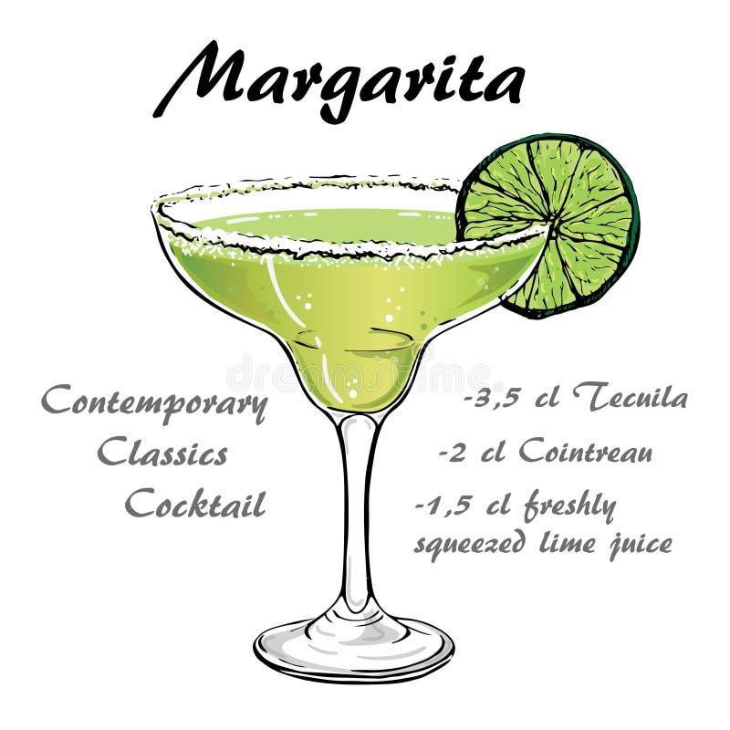 Cocktail vector2 de margarita illustration de vecteur