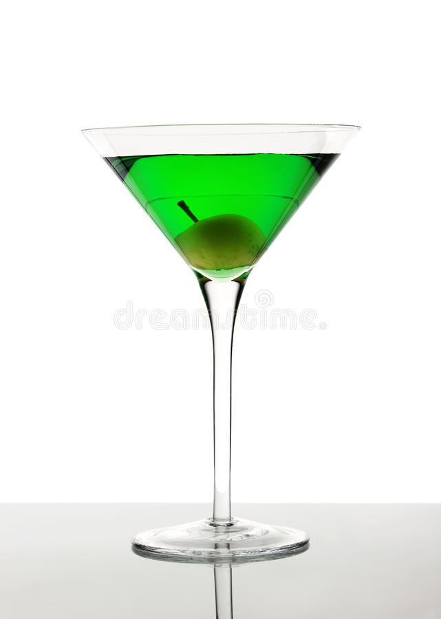 Cocktail verde fotografia stock