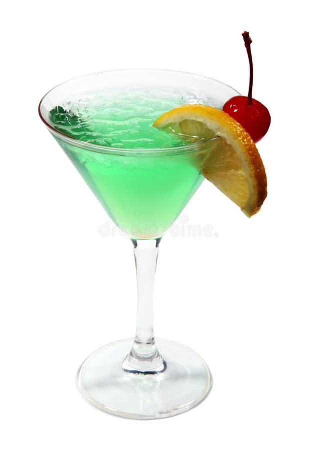 Cocktail verde com gelo fotografia de stock