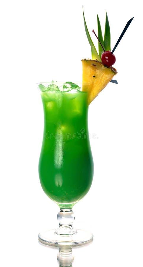 Cocktail verde con l'ananas immagini stock