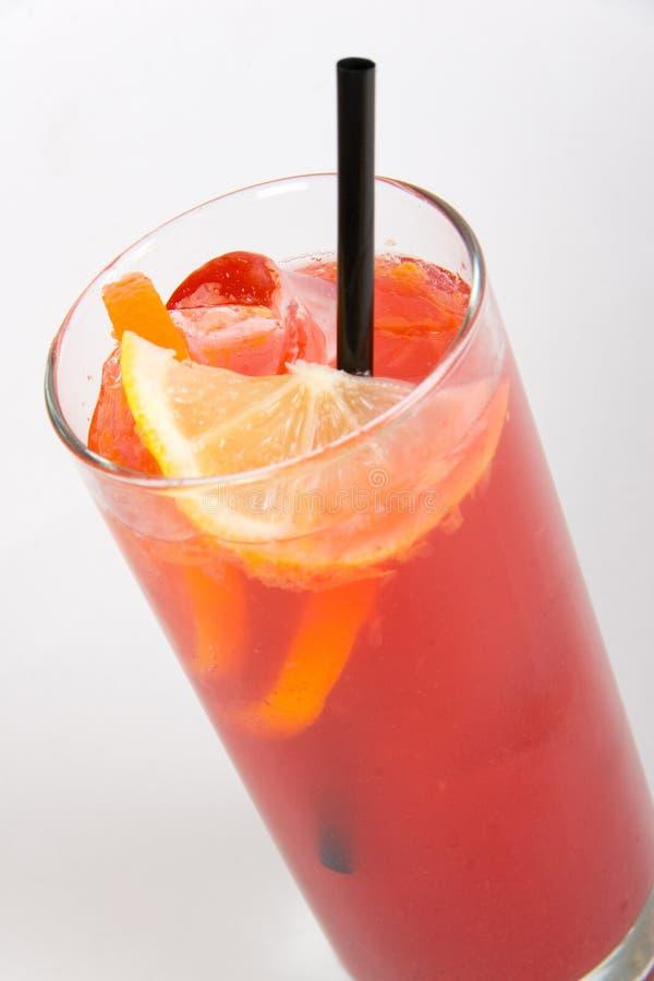 Cocktail vermelho foto de stock royalty free