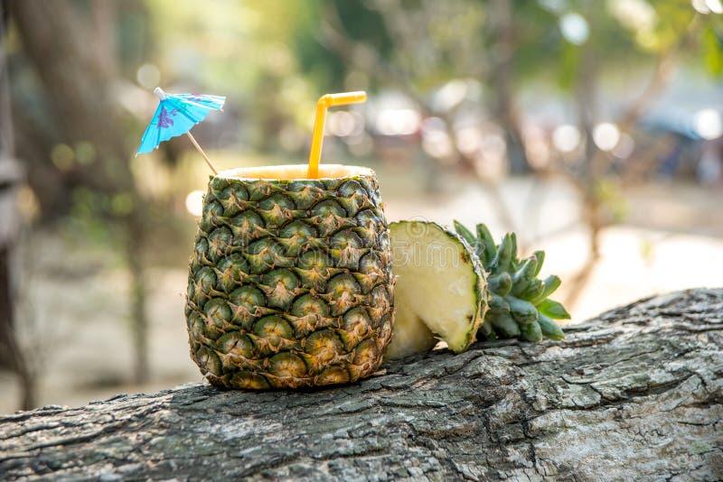 Cocktail in verse tropische vruchten royalty-vrije stock afbeelding