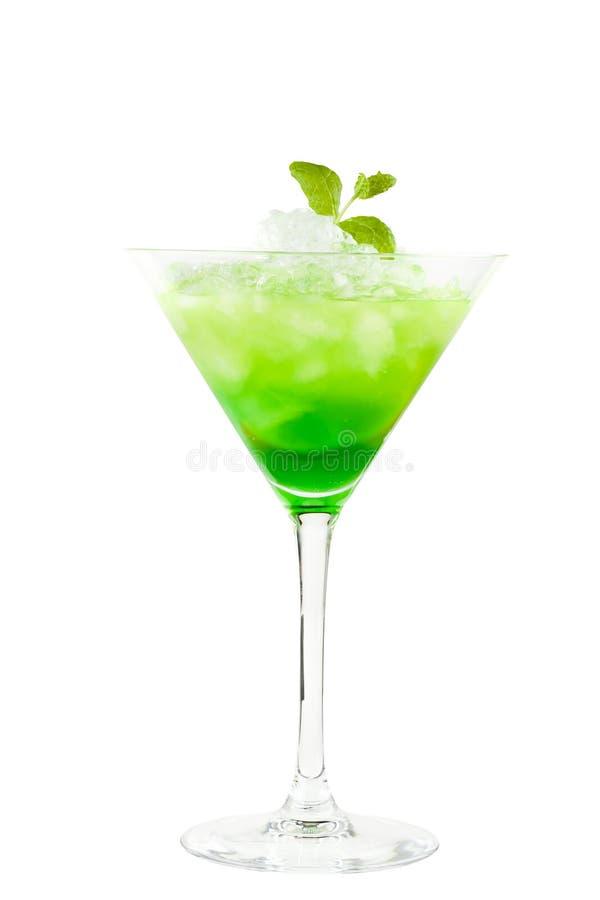 Cocktail vert avec la menthe photo libre de droits