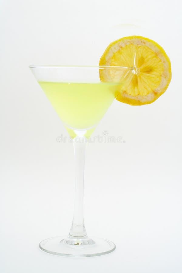 Cocktail vert avec le citron photographie stock