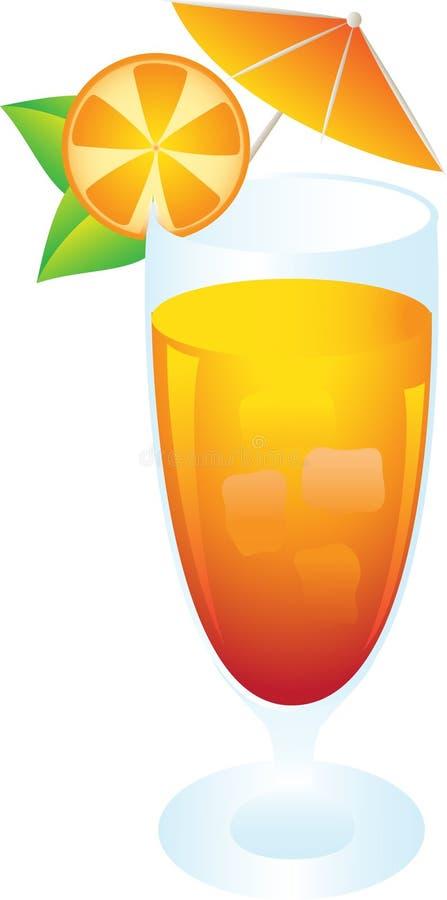 Glas mit geschmackvollem Cocktail lizenzfreie stockbilder