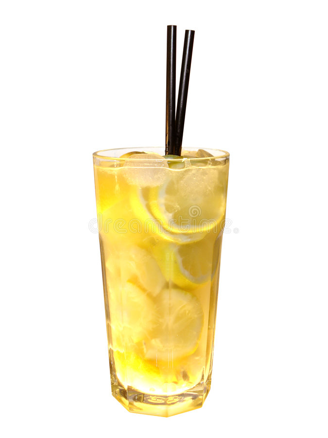 Cocktail vodka lemon stock photography