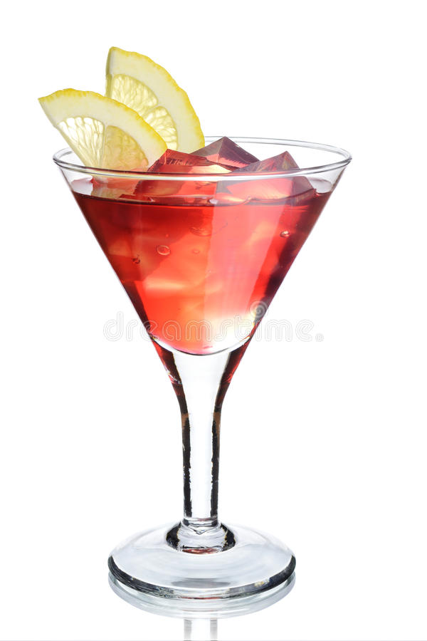 Cocktail on white royalty free stock photography