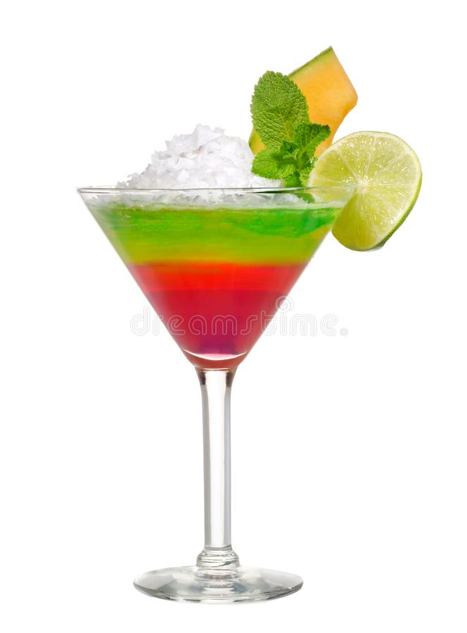 Cocktail on white stock photography