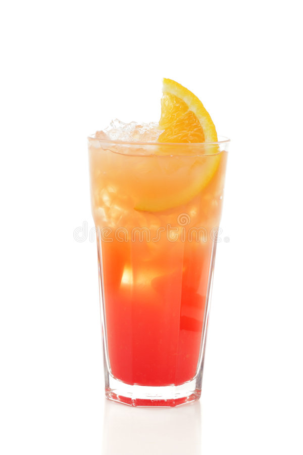 Cocktail - Zonsopgang Tequila stock afbeelding