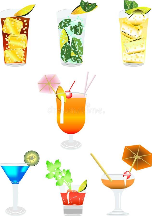 cocktail3 иллюстрация вектора