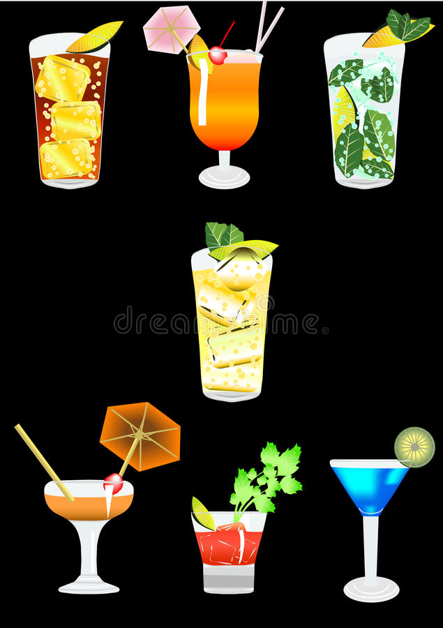 cocktail4 royaltyfri illustrationer