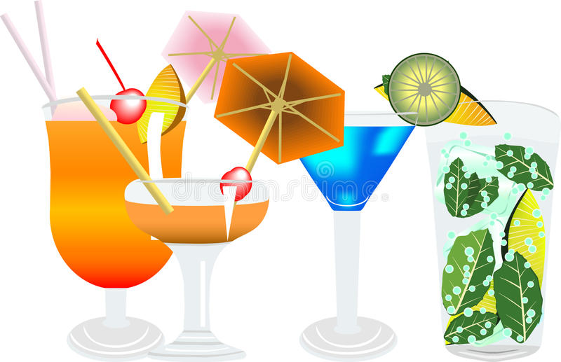 Cocktail5 stock illustratie