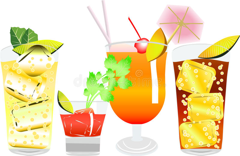 cocktail6 royaltyfri illustrationer