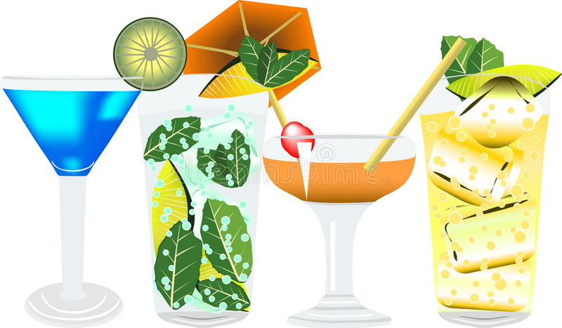 Cocktail7 vector illustratie