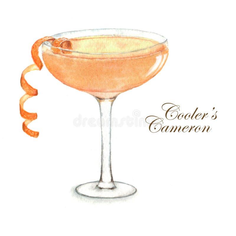 Cocktailaquarellillustration vektor abbildung
