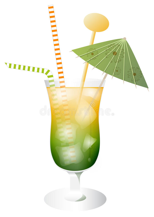 Cocktailgetränk lizenzfreie abbildung
