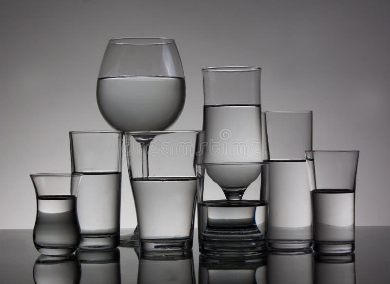 Cocktailgläser lizenzfreies stockfoto