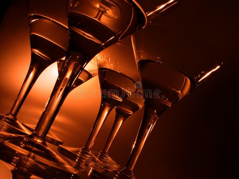 Cocktailgläser lizenzfreie stockfotografie
