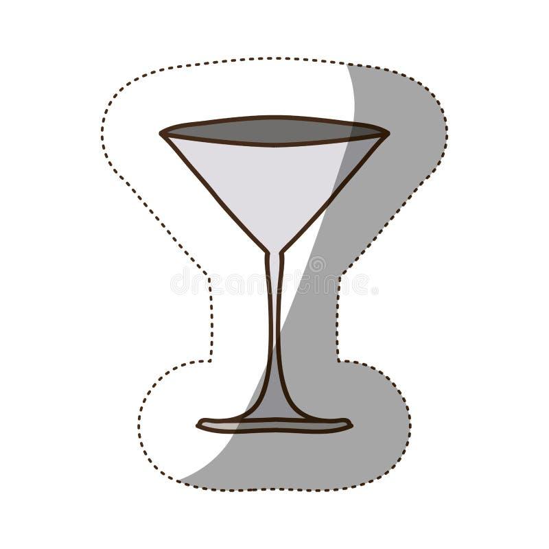 Cocktailglasschale stock abbildung