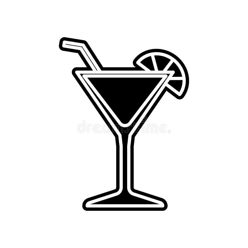 Cocktailikone Element des Kasinos f?r bewegliches Konzept und Netz Appsikone Glyph, flache Ikone f?r Websiteentwurf und Entwicklu stock abbildung