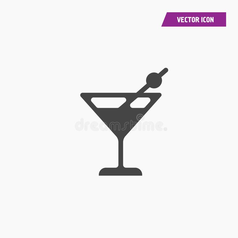 Cocktailikone mit Alkohol in ihm vektor abbildung