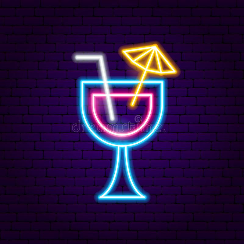 Cocktailleuchtreklame vektor abbildung