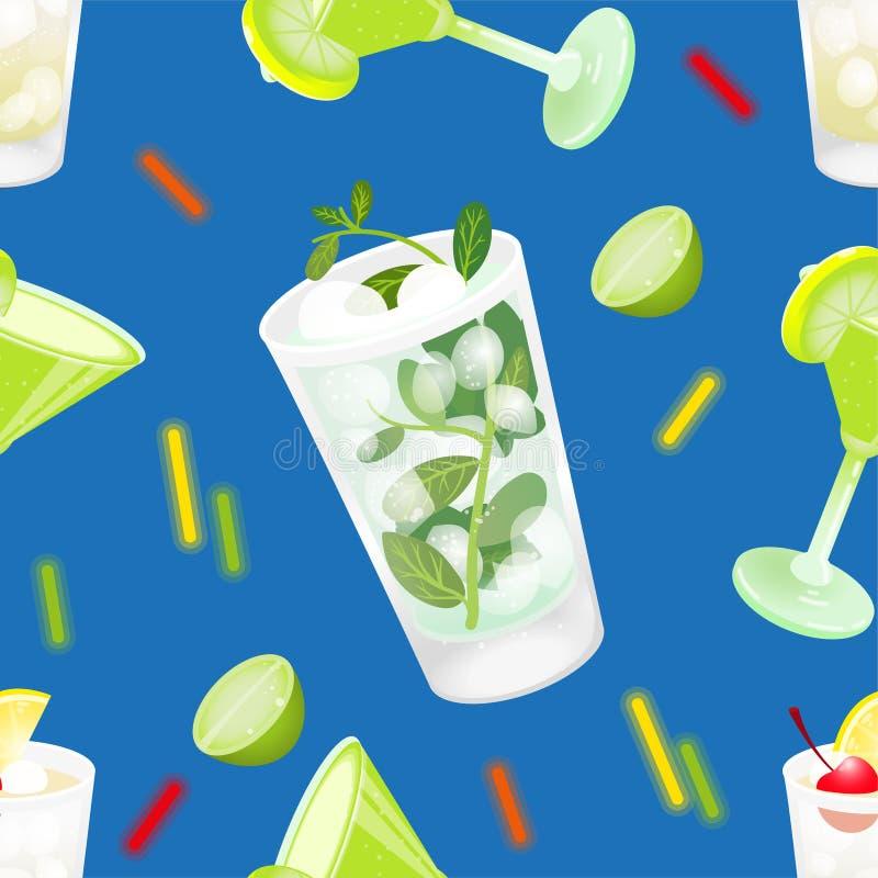 Cocktailmustersatz stock abbildung