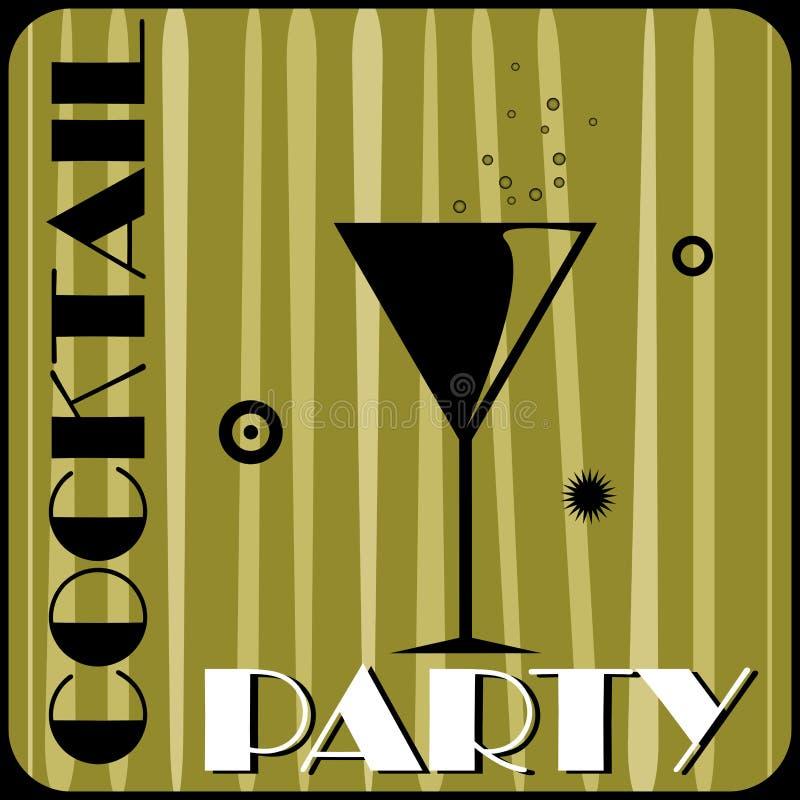 cocktailparty royaltyfri illustrationer