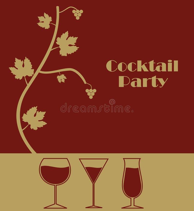 Cocktailparty vektor illustrationer