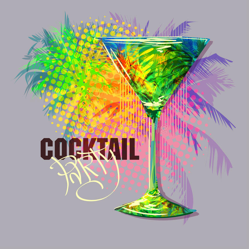 Cocktailparty 1 lizenzfreie abbildung