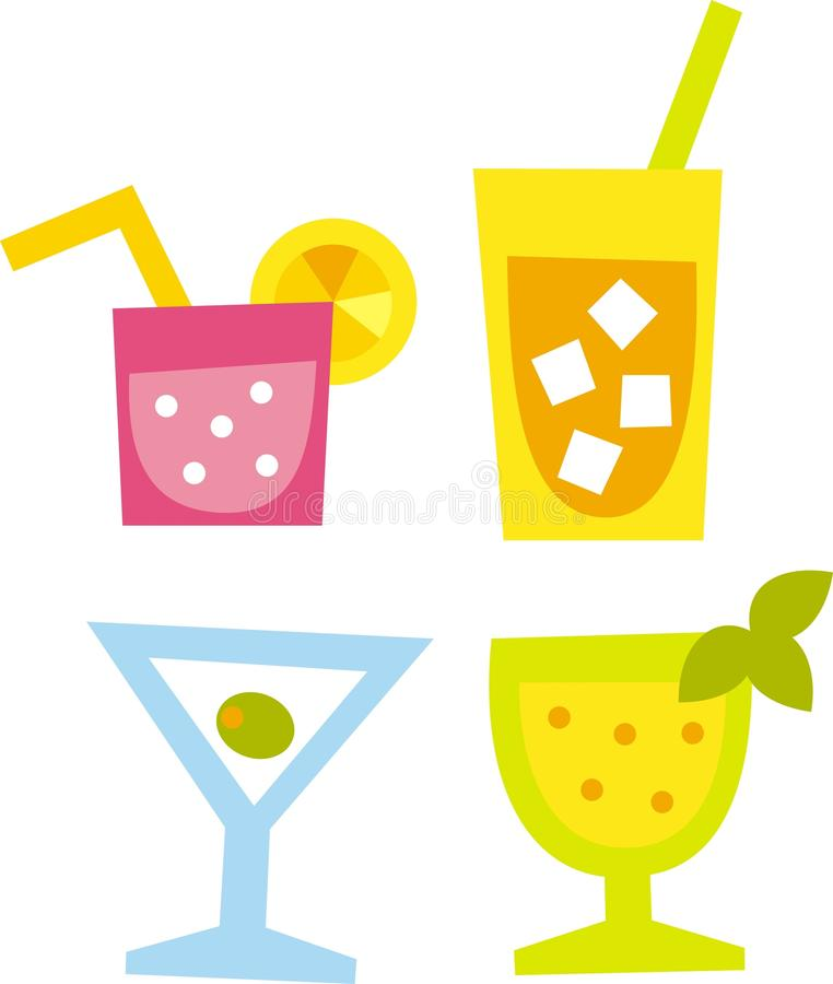 Cocktails vector illustration