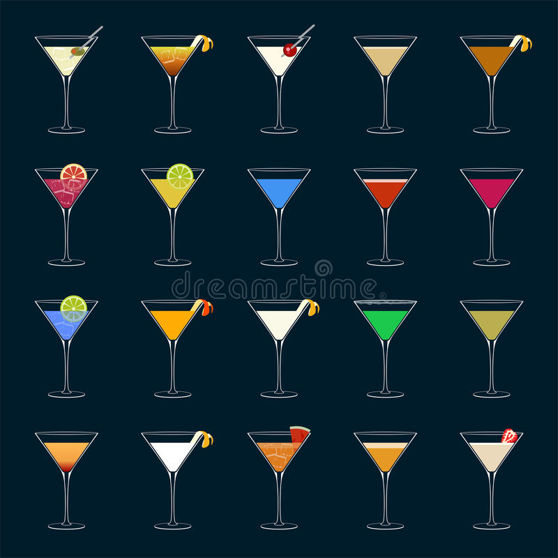 Cocktails illustration de vecteur
