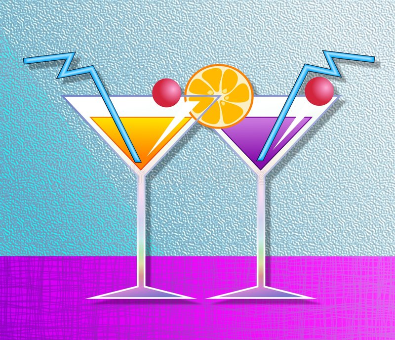 Cocktails stock illustration