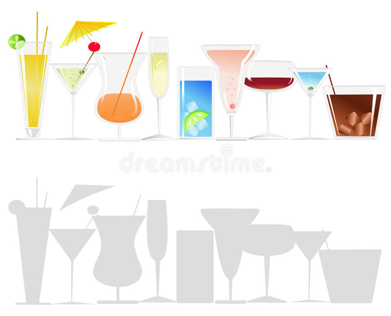 Download Cocktails stock vector. Illustration of celebration, liquid - 6278586