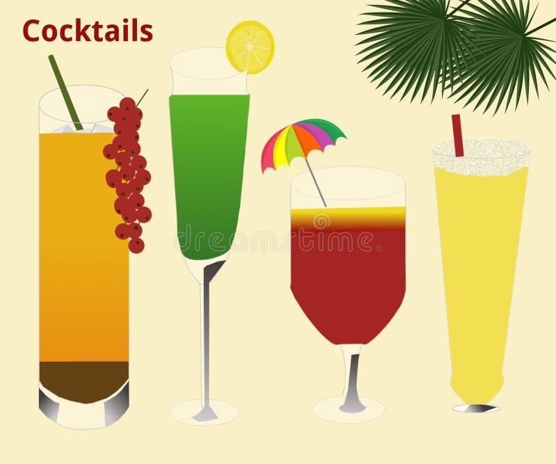 cocktails illustration libre de droits
