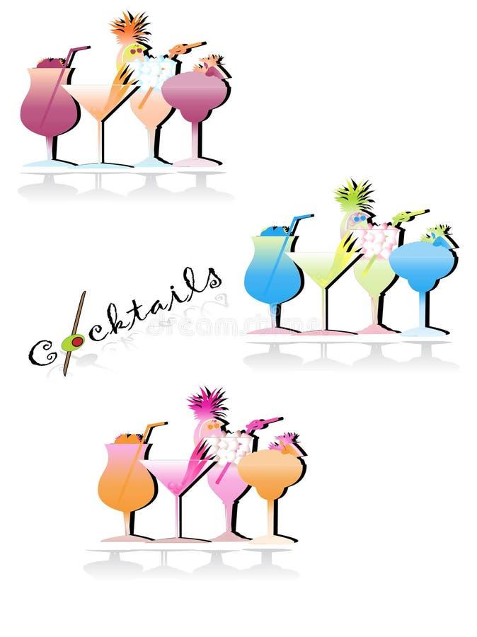 Download Cocktails illustration de vecteur. Illustration du cerise - 8670074