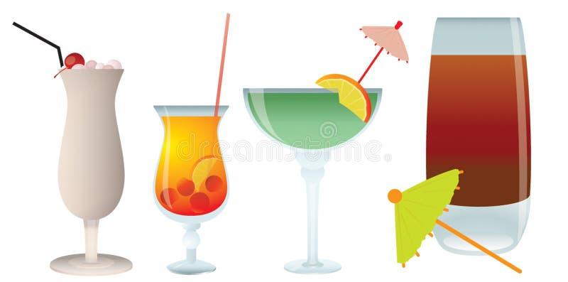 Cocktails royalty-vrije illustratie