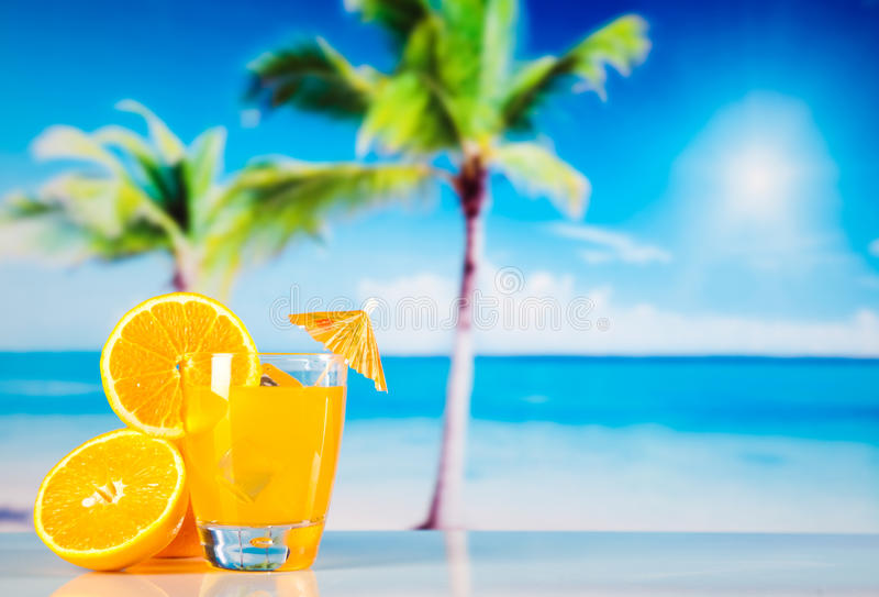 Cocktails, alcohol drink, natural colorful tone royalty free stock photo