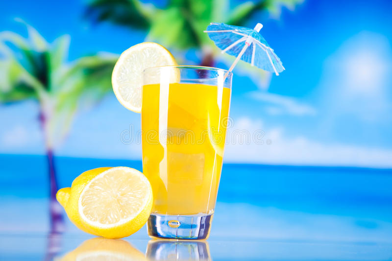 Cocktails, alcohol drink, natural colorful tone royalty free stock image
