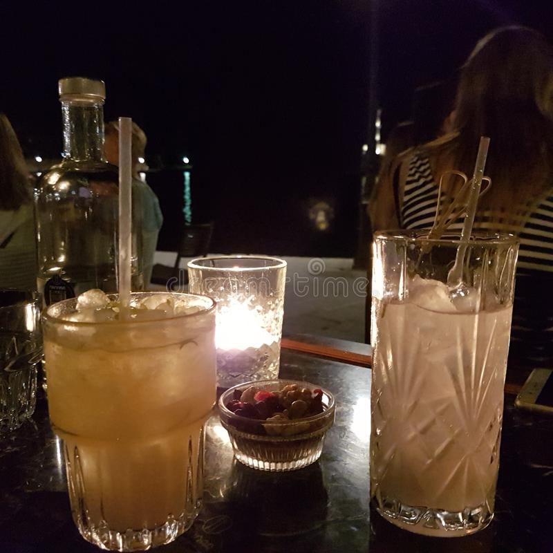 cocktails in Chania stock image