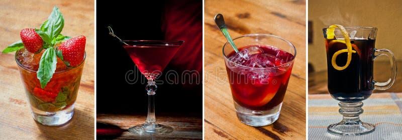 Cocktails classiques réglés d'alcool photos stock