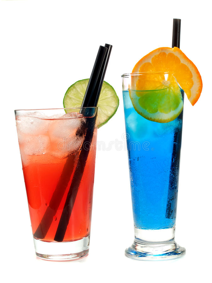 Free Cocktails Collection - Polar Bear And Long Beach Iced Tea Stock Image - 48819571