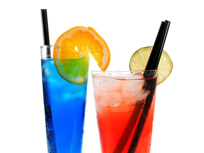Cocktails Collection - Polar Bear and Long Beach Iced Tea royalty free stock image