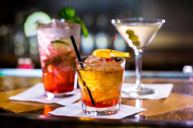 Cocktails stock photography