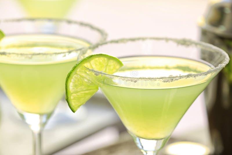 Cocktails délicieux de margarita, plan rapproché photos stock