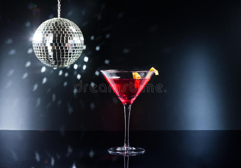 Cocktails on the dance floor stock photos