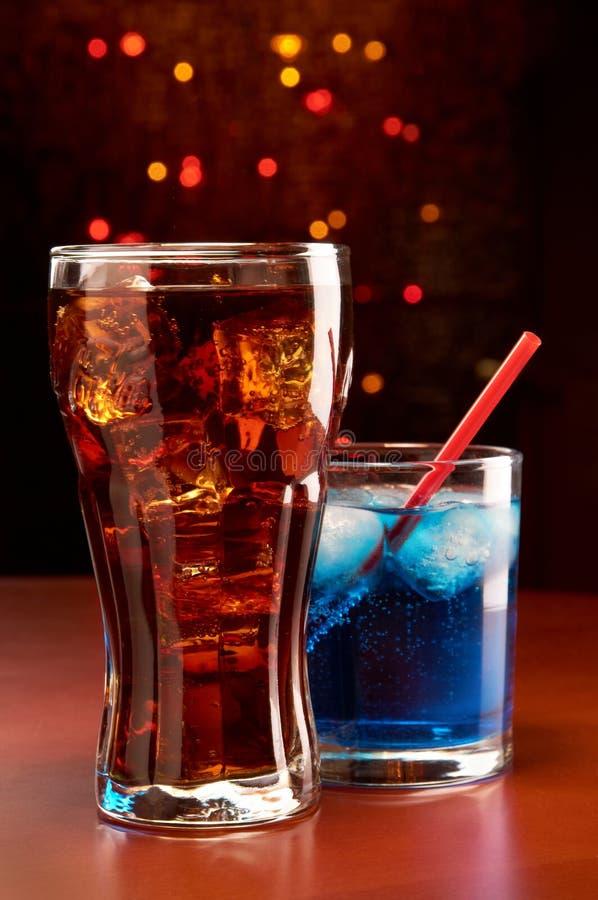 Cocktails in een staaf royalty-vrije stock foto