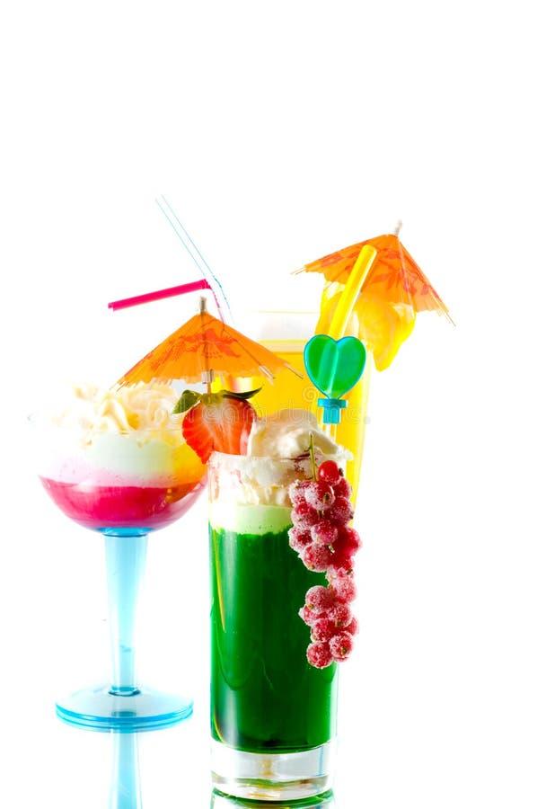 Cocktails en desserts royalty-vrije stock foto's